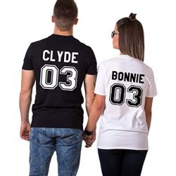 Camisetas para parejas Bonnie and Clyde