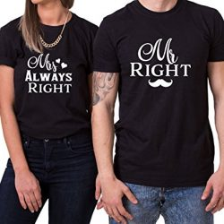 Camisetas para parejas Mr Right Mrs Always Right